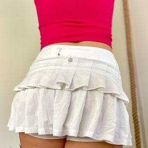 Lululemon White Pace Setter Skirt
